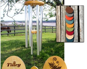 Pet Memorial Wind Chime, 36-Inch Silver, Loss of Dog, Pet Memorial Gift, Loss of Cat, Dog Memorial Gift