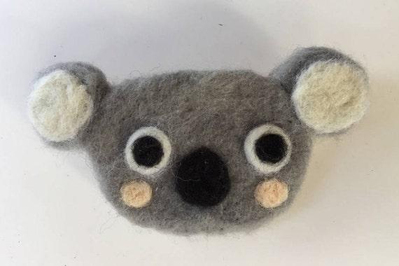 Koala brooch Neelde felted koala pin