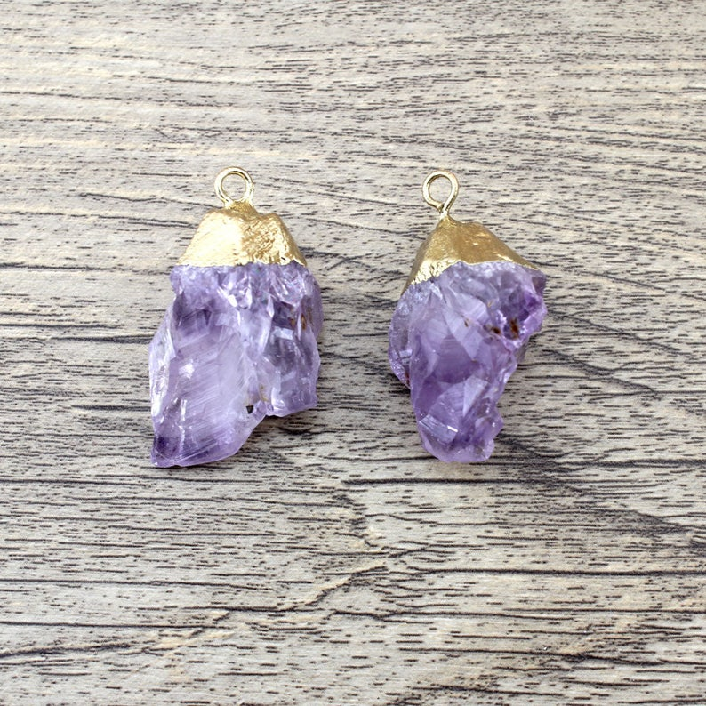 Amethyst Necklace Purple Druzy Crystal Slice Pendant Gold Drusy Stone Raw Gemstone Earrings Healing Crystals and Stones Jewelry Wholesale