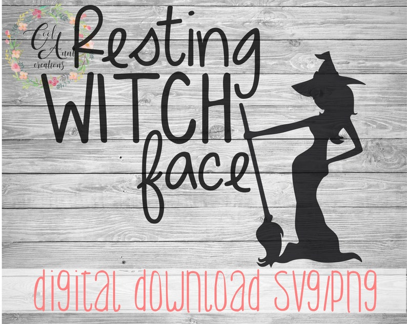 Resting Witch Face Halloween  SVG   PNG  Digital Download