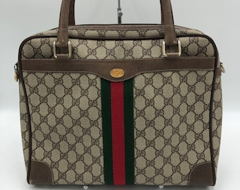 9d9bd90eb77 Gucci Supreme GG Vintage 80 s Monogram Handbag - RARE