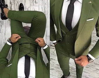 2018 Latest Coat Pant Designs Green Men Suit Slim Fit 3 Piece Tuxedo Groom Wedding Suits Custom Prom Blazer Terno Masculine