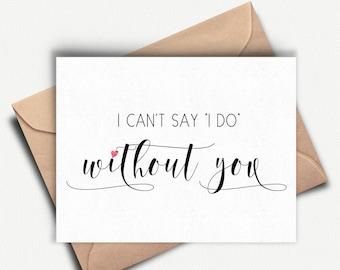 Will you be my Bridesmaid Card, Bridesmaid Proposal, Maid of Honor Card, Bridal Party Card, Bridesmaid Invitation, Wedding Party Card, Gift