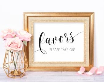Printable Wedding Favors Sign, Favors Wedding Sign, Favors Please Take One, Wedding Favor Sign, Favors Wedding Printable, Favours Sign