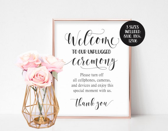 photo relating to Wedding Sign Printable named Unplugged Marriage ceremony Indication, Unplugged Rite Signal, Unplugged Indicator, Substantial Welcome Indicator, Wedding day Welcome Indication Printable, No Digital camera Indication No Photograph