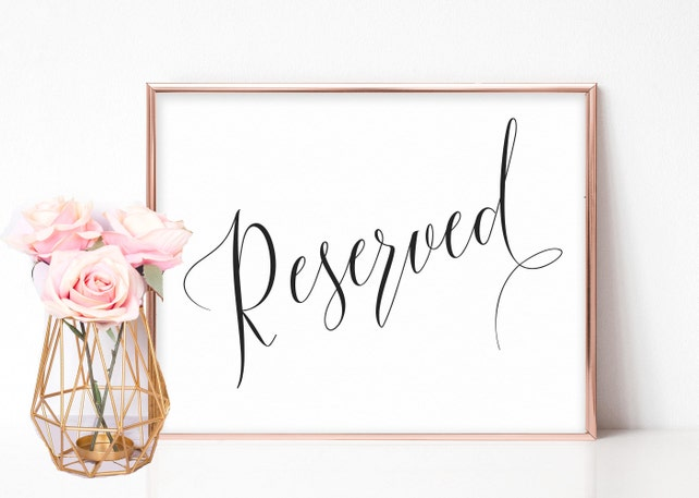 graphic about Reserved Sign Printable known as Reserved Wedding ceremony Indicator, Reserved Desk Indication, Reserved Row