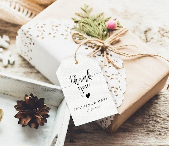 Wedding Thank You Gift Tags
