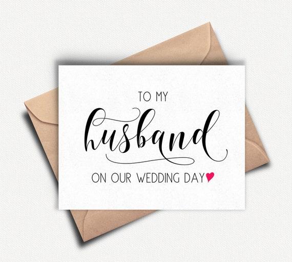 Kaart Van De Bruidegom Met Mijn Man Op Onze Trouwdag Naar Mijn Kaart Groom Wedding Day Card Bruidegom Bruidegom Kaart Trouwdag Bruidegom Geschenk