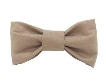 Solid Tan Dog Bow Tie