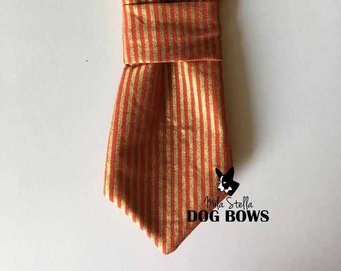 Red & Gold Striped Necktie