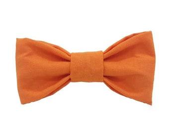 Solid Orange Dog Bow Tie