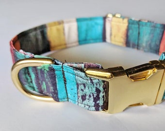 Distressed Painted Wood print collar
