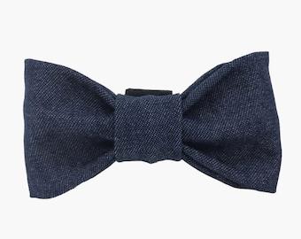 Denim Dow Bow Tie