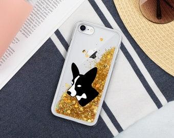 Corgi Liquid Glitter iPhone case - iPhone X/XS - iPhone XR - iPhone 7/8