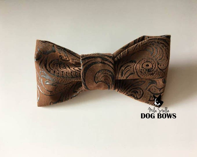 Brown Swirl Faux Leather