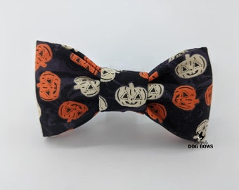 Jack-O-Lantern Dog Bow Tie - Original