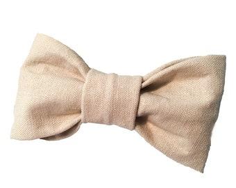 Linen Dog Bow Tie - Linen dog bowtie - Wedding dog bow - Wedding dog bowtie - Linen dog bow