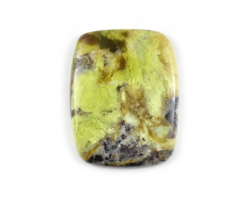 Cushion Shape Green Opal Gemstone Smooth Green Opal Loose Gemstone Natural Green Opal Cabochon Natural Opal 42 Carat 37x29x5 MM C-0514
