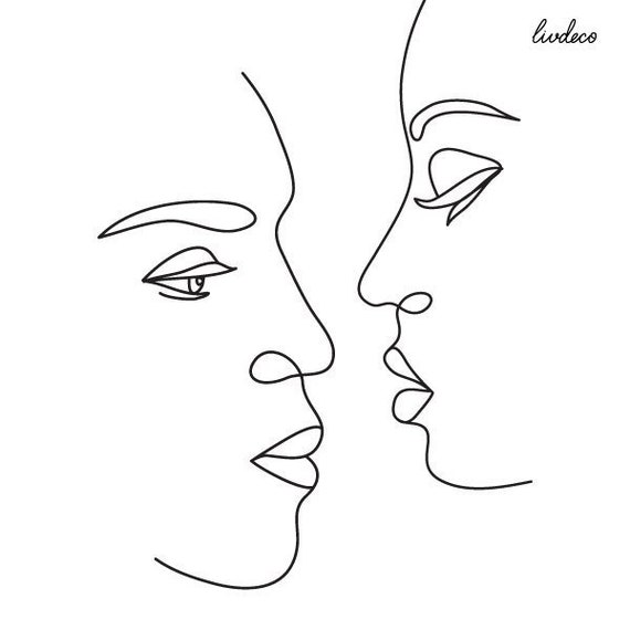 Personalized Tattoo Line Drawing Custom Portrait Valentines Day Gift Ideas Minimalist Art One Line Tattoo Simple Tattoo Gift For Her