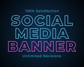 Custom Social Media Banner, Social Media Banner, Custom Banner, Instagram Promotional Banner, Facebook Cover Photo, YouTube Channel Banner