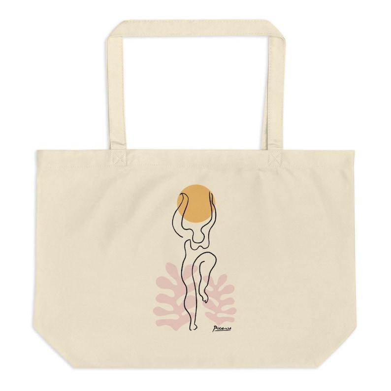 Matisse Tote Bag Eco Cotton Grocery Bag Gift Picasso Art Bag Minimal Art Tote Bag Picasso Art Designer Bag Unique Big Tote
