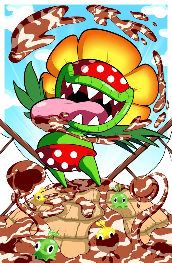 Super Mario Sunshine 11x17 Print Down With Petey Piranha Etsy