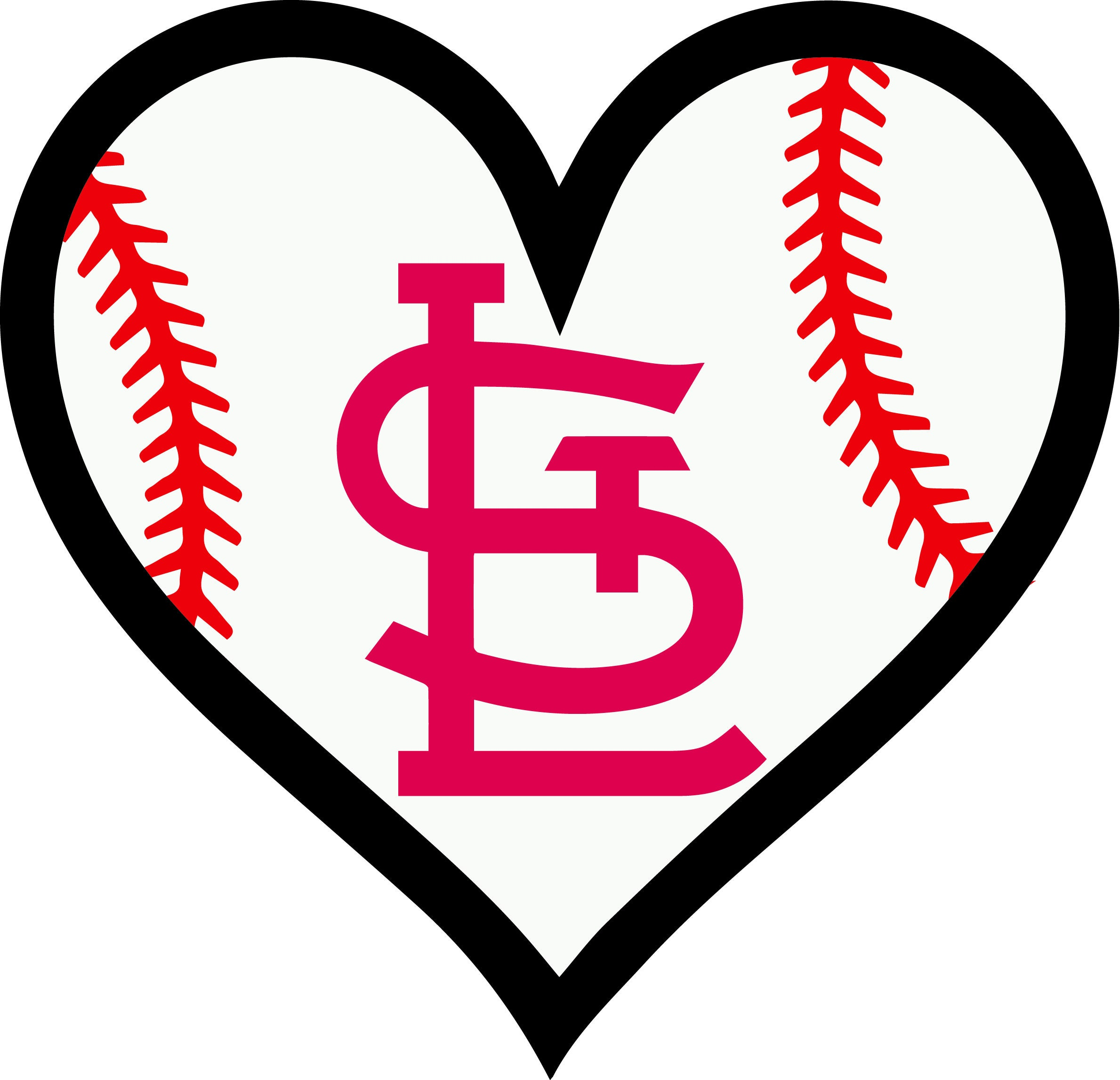 30 off st saint louis cardinals baseball l love heart decal etsy rh etsy com st louis cardinals clip art molina st louis cardinals clip art pennants