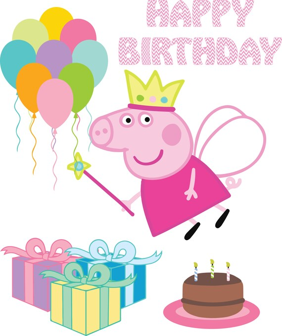 30 off peppa pig birthday pack diy create invitations svg etsy