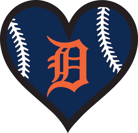 30 off detroit tigers baseball heart file decal logo for car rh etsystudio com detroit tigers baseball clipart detroit tigers logo clipart