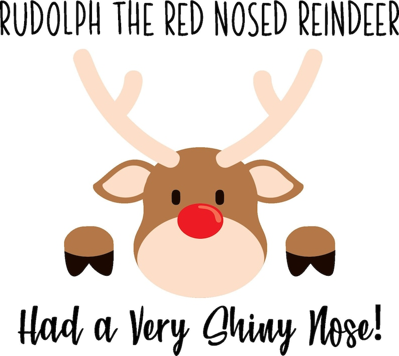 320cc87bc648b Rudolph the Red Nosed Reindeer Layered Cutting File Cricut and | Etsy