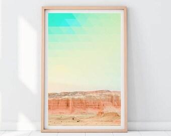 Minimalist Landscape Print, Modern Printable Art, Minimalist Mountain Print, Colorado Print, Desert Print, Southwestern print