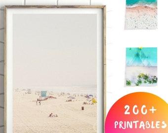 Beach Photography, Minimalist Beach Print, Beach Pictures, Aerial Beach Photography, Beach Printable, Aerial Beach Print,Downloadable prints