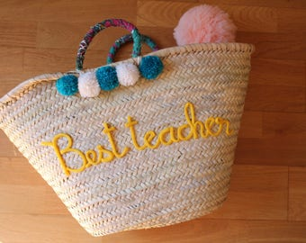 Personalized basket / beach basket
