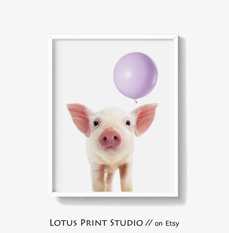 picture regarding Printable Pig called Boy or girl Piglet Print, Nursery Pig With Balloon Wall Artwork, Printable Pig Artwork, Piglet Down load, High Printable Poster, Fast Down load, #533