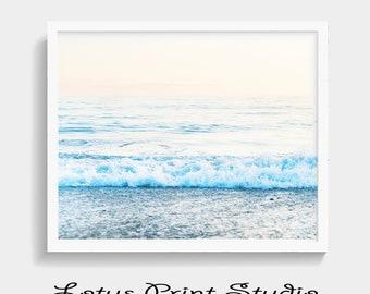Ocean Print, Beach Decor, Coastal decor, Gift for Her, Nautical Decor, Ocean Waves, Digital Download, Large Poster, Ocean Art, #528