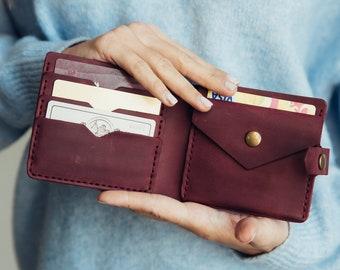 Leather women's wallet, Leather wallet women, Womens small leather wallet, card wallet, custom wallet, slim wallet, 3rd anniversary gift,
