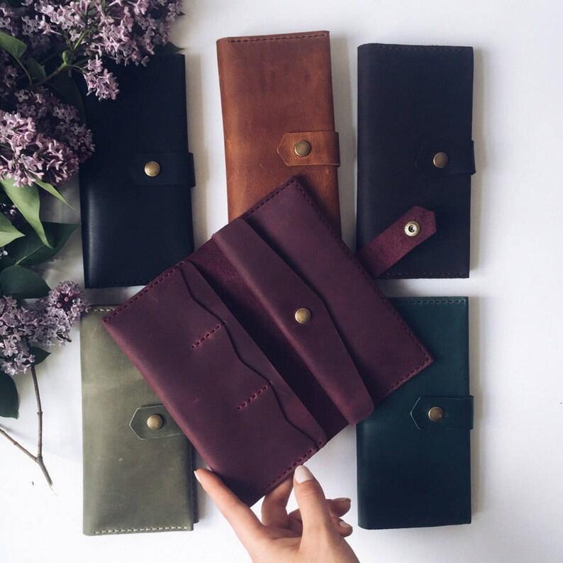 5f9bf82eaa11 Purple leather wallet | Woman leather wallet | Woman wallet | Long wallet |  Gift for her | Minimalist wallet women