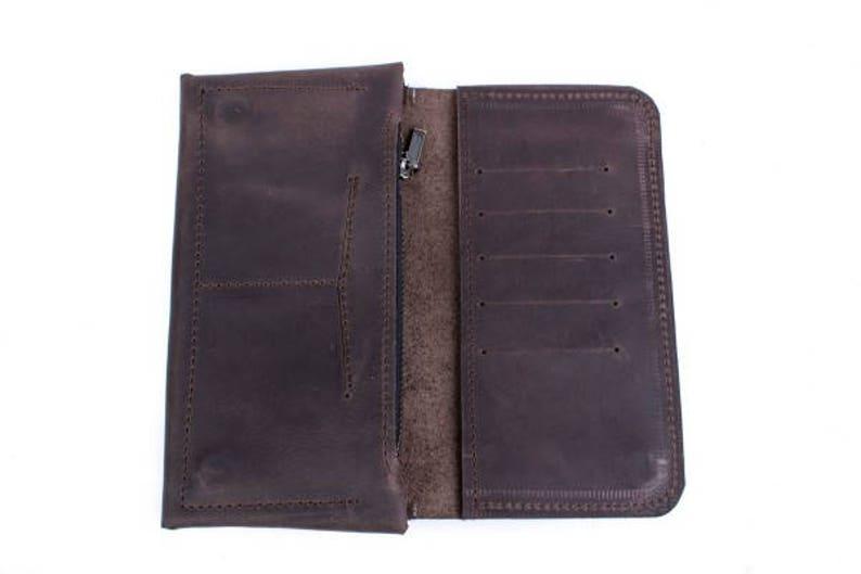 28e7c8300c85 Woman leather wallet - DARK BROWN | Leather women's wallet | Custom womens  wallet | Slim wallets for men | Mens billfold