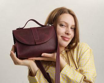 Leather Crossbody Bag Women Shoulder Bag Mini Bag Cross Body Bag Leather Purse Woman Handbag Minimalist Bag Cross Body Bag Gift