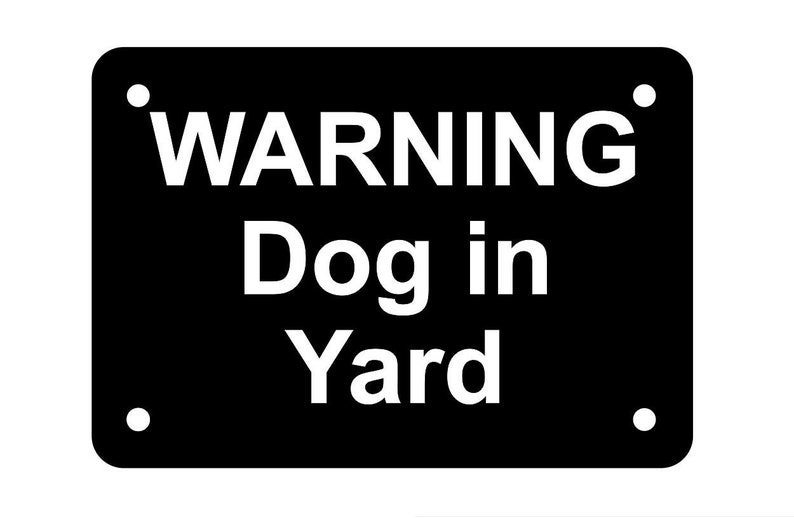 Beware of the Dog Sign Plaque available in 7 sizes and 30 colours UV Rated
