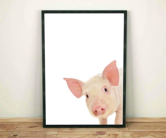 6x Plywood Kinderkamers : Varken print farm animal print baby dieren kunst aan de muur etsy