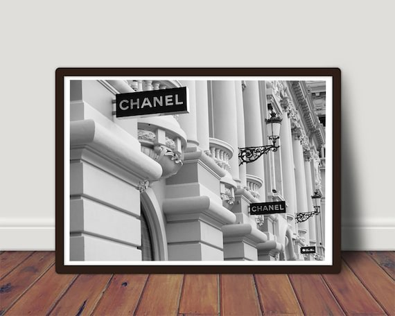 Chanel Fashion Print Chanel Inspired Boutique Wall Art Coco Etsy