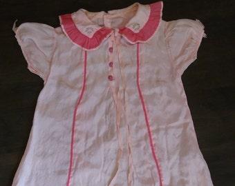 Toddler/Large Doll Silk(?) Dress
