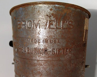 Bromwell's Hand Crank Measuring Flour Sifter