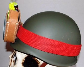 Pick of 7,Airsoft combat hard helmet liner,size adjustable [ not steel],leather-nylon liner-strap,lightweight,leather pouch,pick your patch.