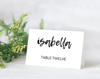 Printable Place Cards // Wedding Place Cards, Printable Wedding Cards, Printable Wedding Stationery, DIY Place Cards, Wedding Table Cards