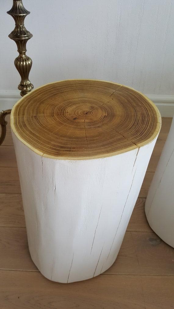 Acacia Arbre Souche Blanc Bloc Hic Table De Chevet