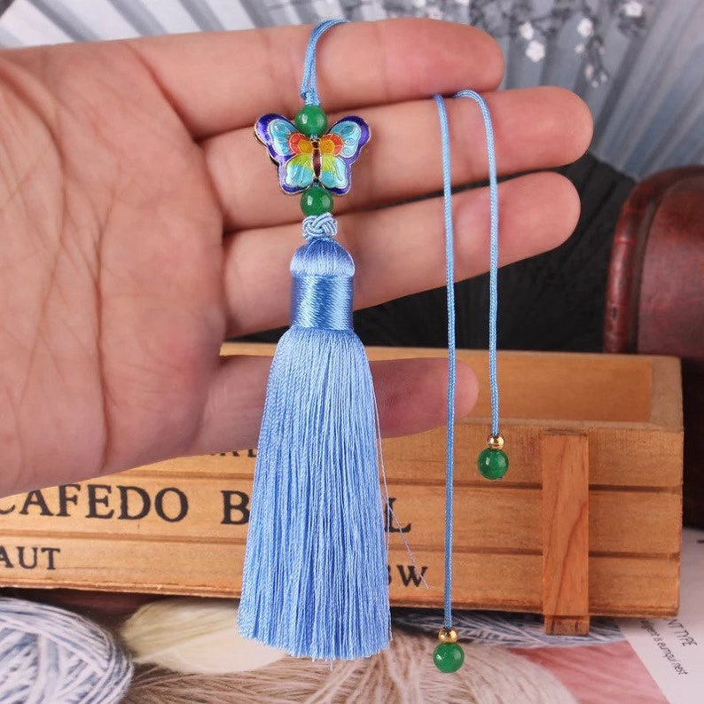 Numbers in the pictures stands for the corresponding color TB0225   1piece 10CM Chinese tassels  pendant