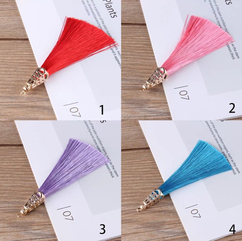 TB0275 9CM Chinese tassels pendant decorated with alloy head Numbers in the pictures stands for the corresponding color