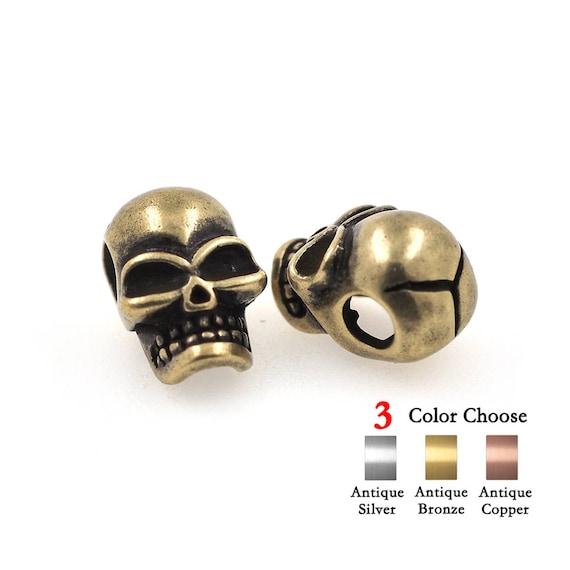 Skull Bead Charm Diy Accessories For Mens Paracord Bracelet Etsy
